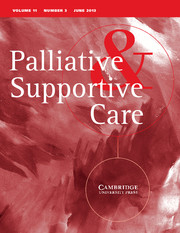 Journal Palliative & Supportive Care
