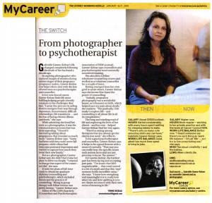 Sydney Morning Herald article on Gabrielle Gawne-Kelnar